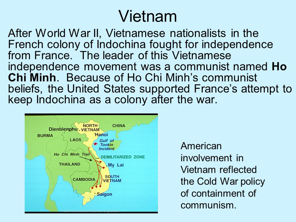 Vietnam After World War II, Vietnamese nationalists in the French colony of Indochina fought for independence from France. The leader of this Vietname