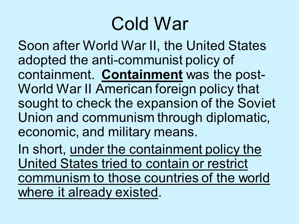 Collapse of the USSR Both internal and external pressures in the 1980s caused the collapse of the Soviet Union and the end of the Cold War.