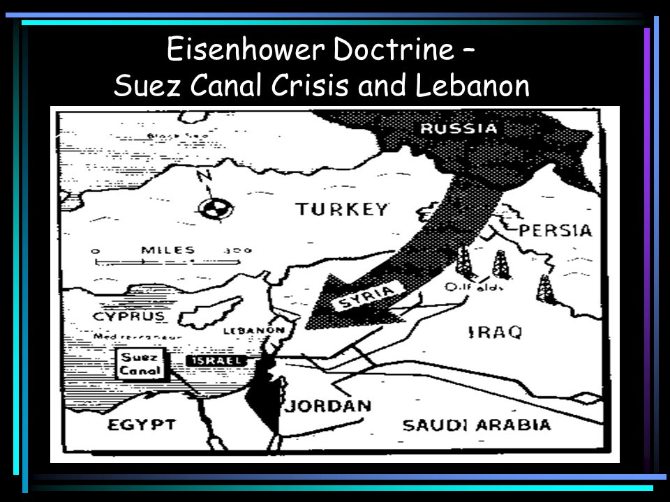 The Eisenhower Doctrine Soviet prestige in Middle East rises because of support for Egypt Eisenhower Doctrine—U.S.