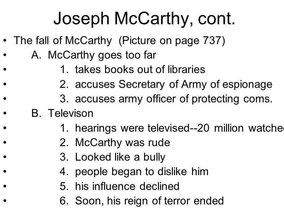 XI. Joseph McCarthy A. Joseph McCarthy--R-Wisconsin 1.