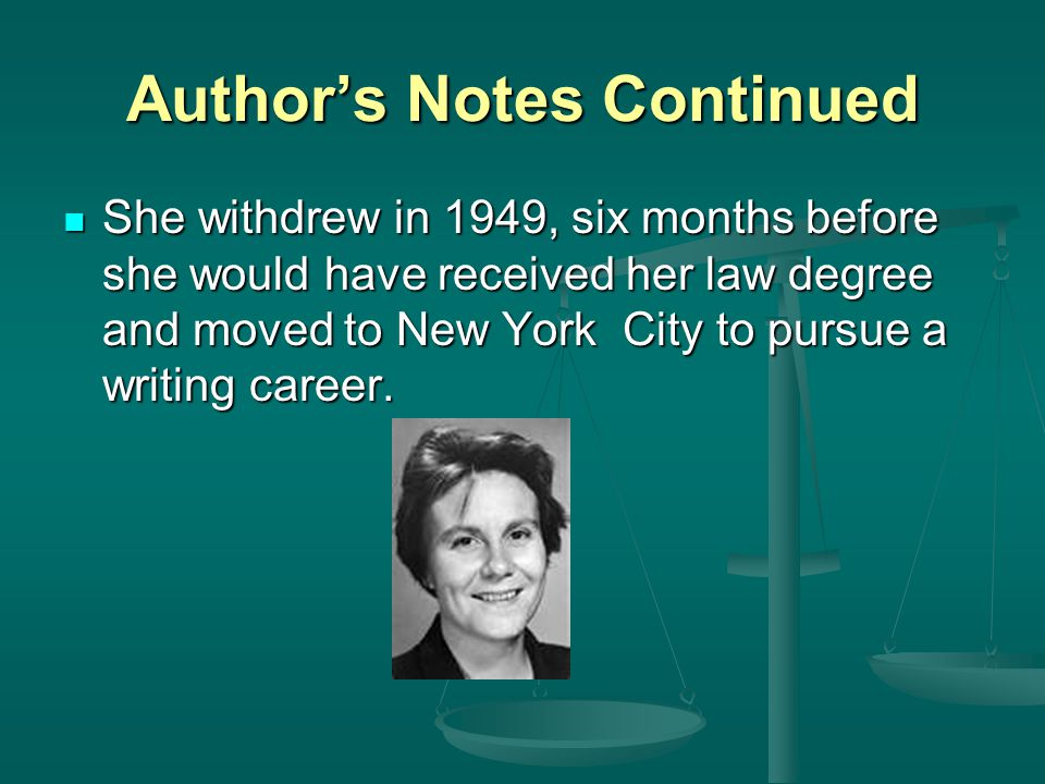 Author's Notes Continued In New York, Lee worked for the airlines.