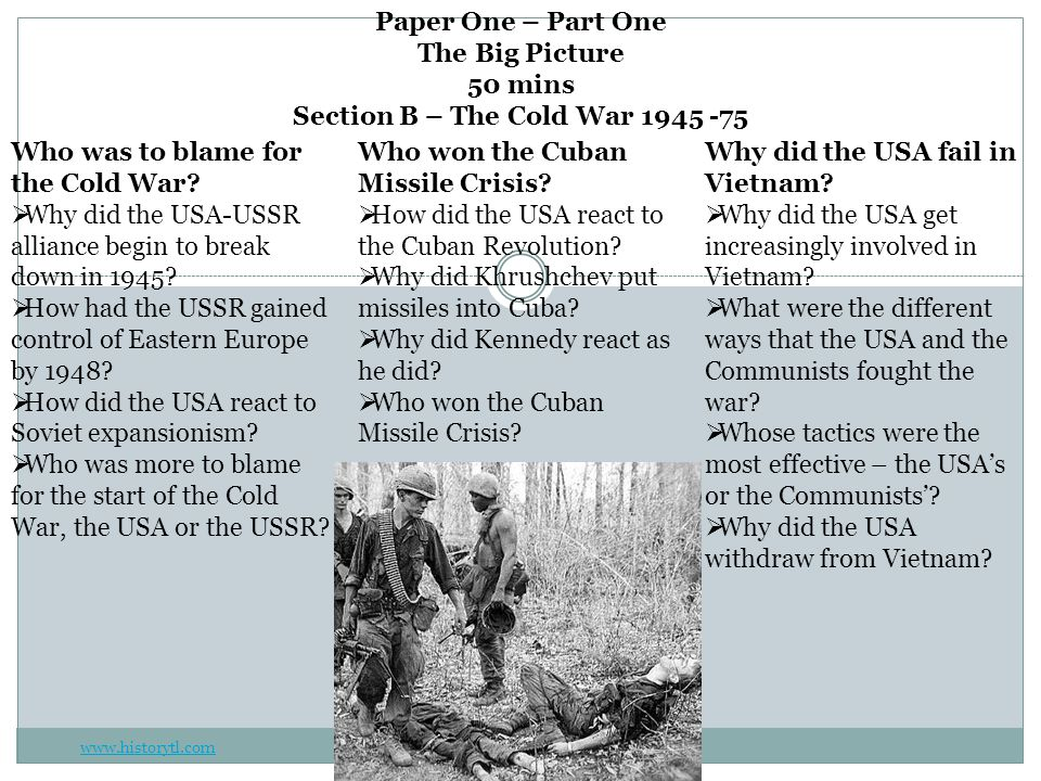 The Cold War Why did the USA-USSR alliance begin to break down in 1945.