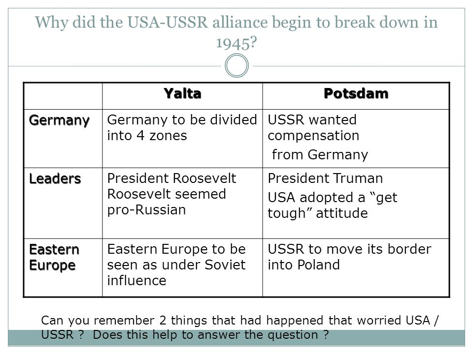Explain why the USA was hostile to the USSR in the years 1945-49 (8 marks) How had the USSR gained control of Eastern Europe by 1948.
