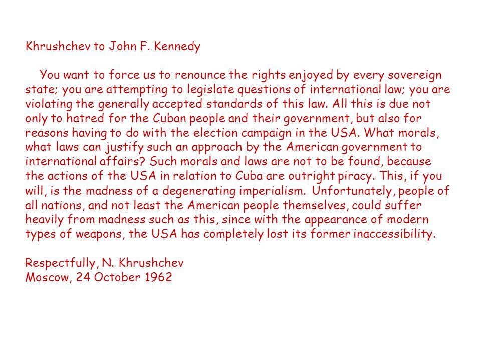 Khrushchev to John F.