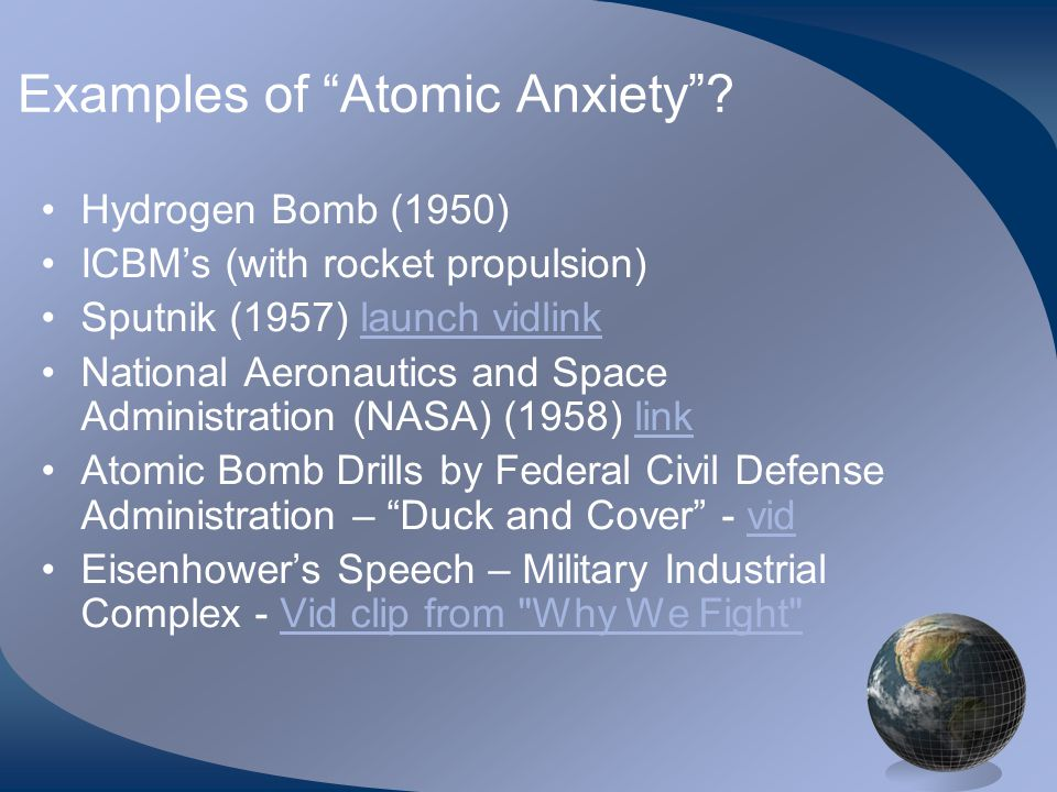 Examples of Atomic Anxiety .