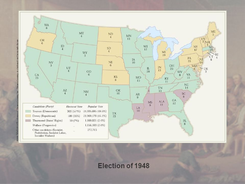 Election of 1948 ©2004 Wadsworth, a division of Thomson Learning, Inc.