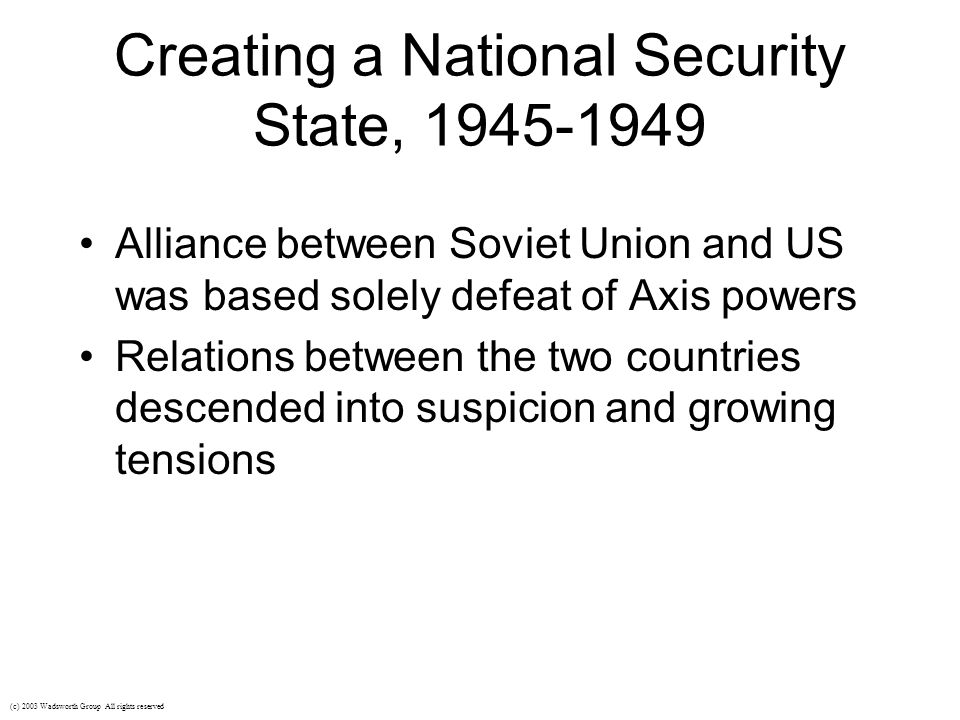 Onset of the Cold War Division in Europe - capitalism vs.