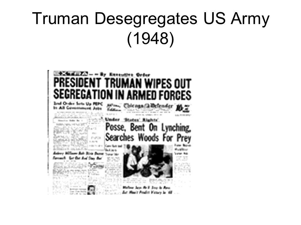 Truman Desegregates US Army (1948)