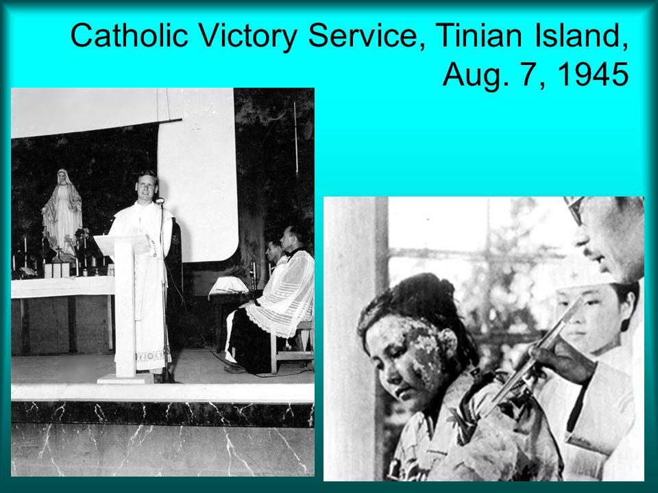 Catholic Victory Service, Tinian Island, Aug. 7, 1945