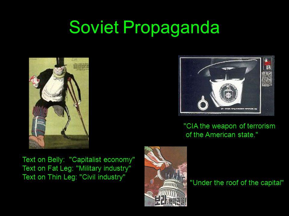 Soviet Propaganda Text on Belly: