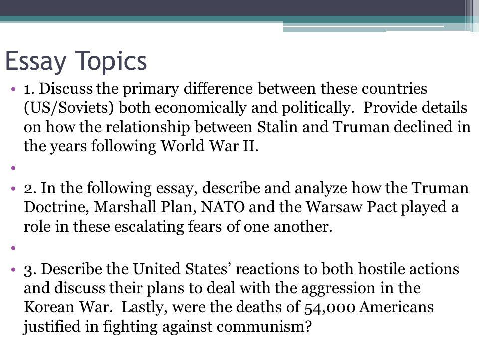 Essay Topics 1.