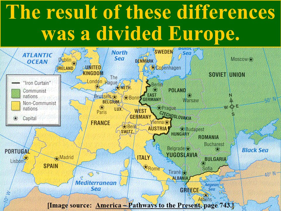 The result of these differences was a divided Europe.