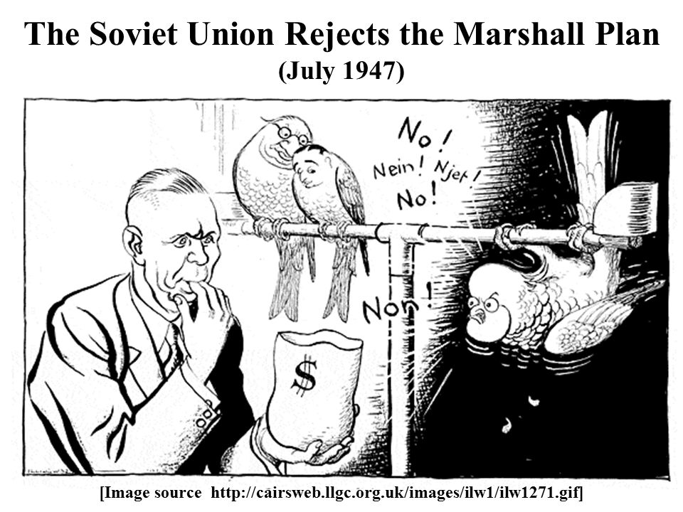 The Soviet Union Rejects the Marshall Plan (July 1947) [Image source http://cairsweb.llgc.org.uk/images/ilw1/ilw1271.gif]