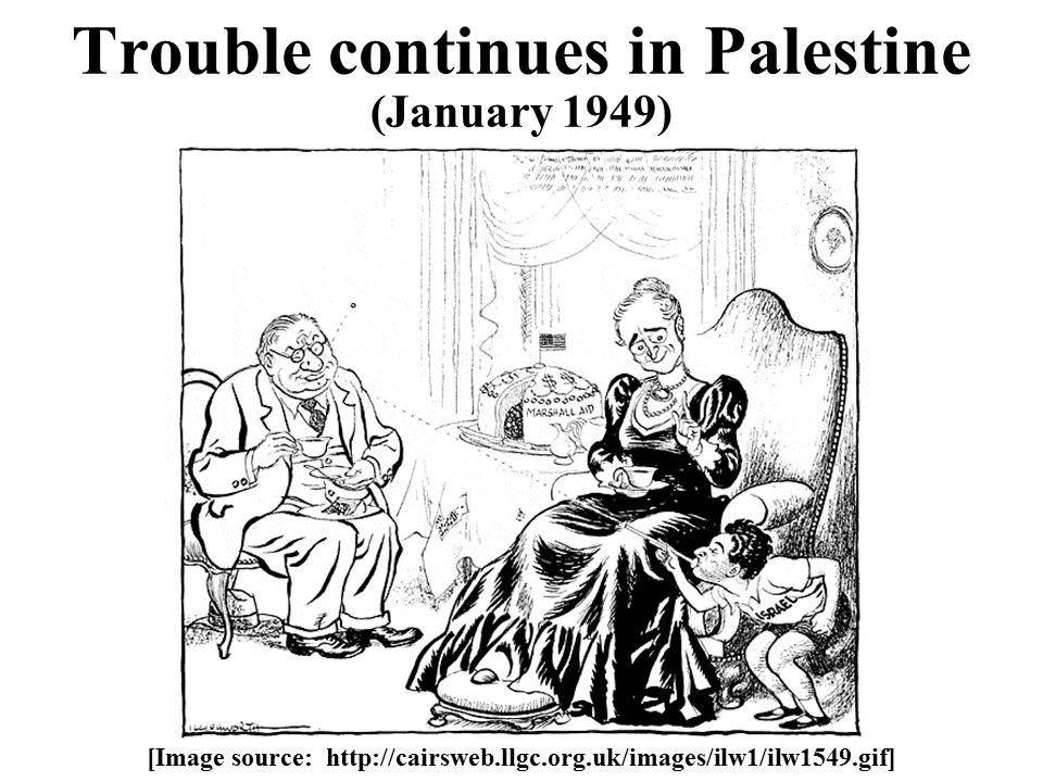 Trouble continues in Palestine (January 1949) [Image source: http://cairsweb.llgc.org.uk/images/ilw1/ilw1549.gif]
