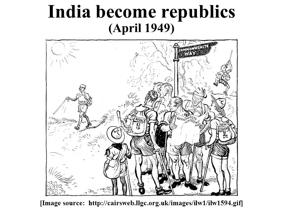 India become republics (April 1949) [Image source: http://cairsweb.llgc.org.uk/images/ilw1/ilw1594.gif]