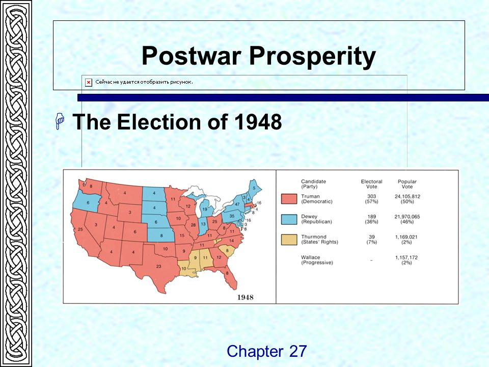 Postwar Prosperity  The Election of 1948 Chapter 27