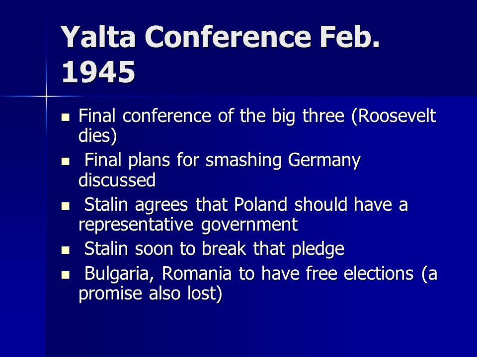 Yalta Conference Feb.