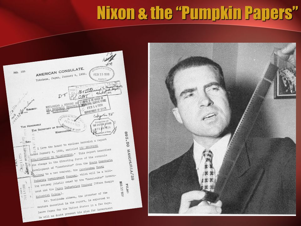 Nixon & the Pumpkin Papers