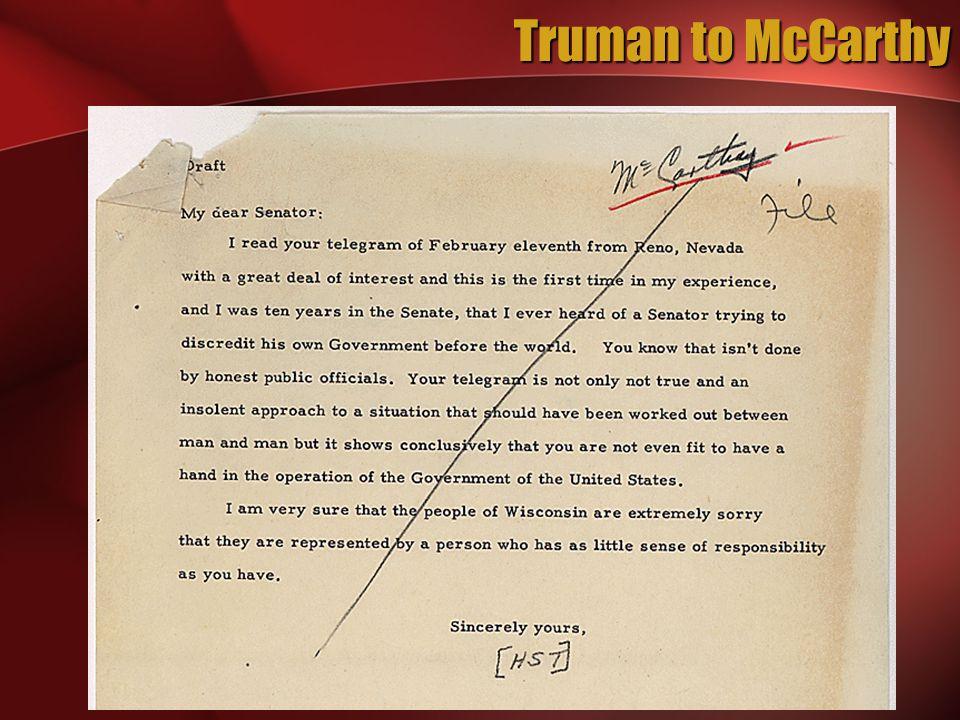 Truman to McCarthy