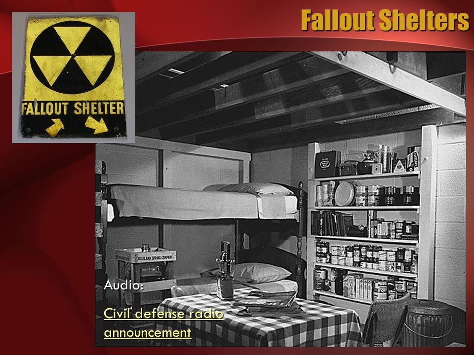 Fallout Shelters Audio: Civil defense radio announcement Civil defense radio announcement