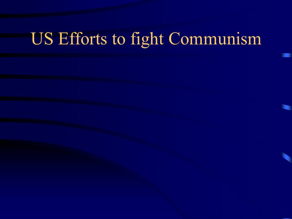US Efforts to fight Communism
