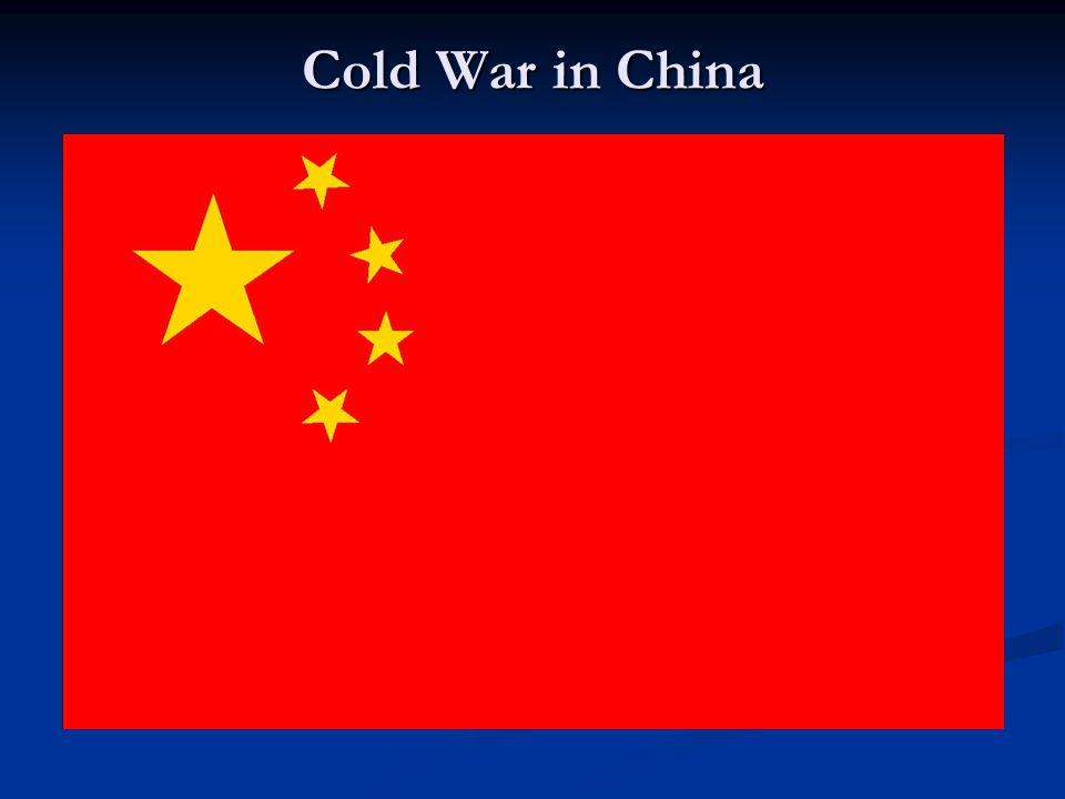 Cold War in China
