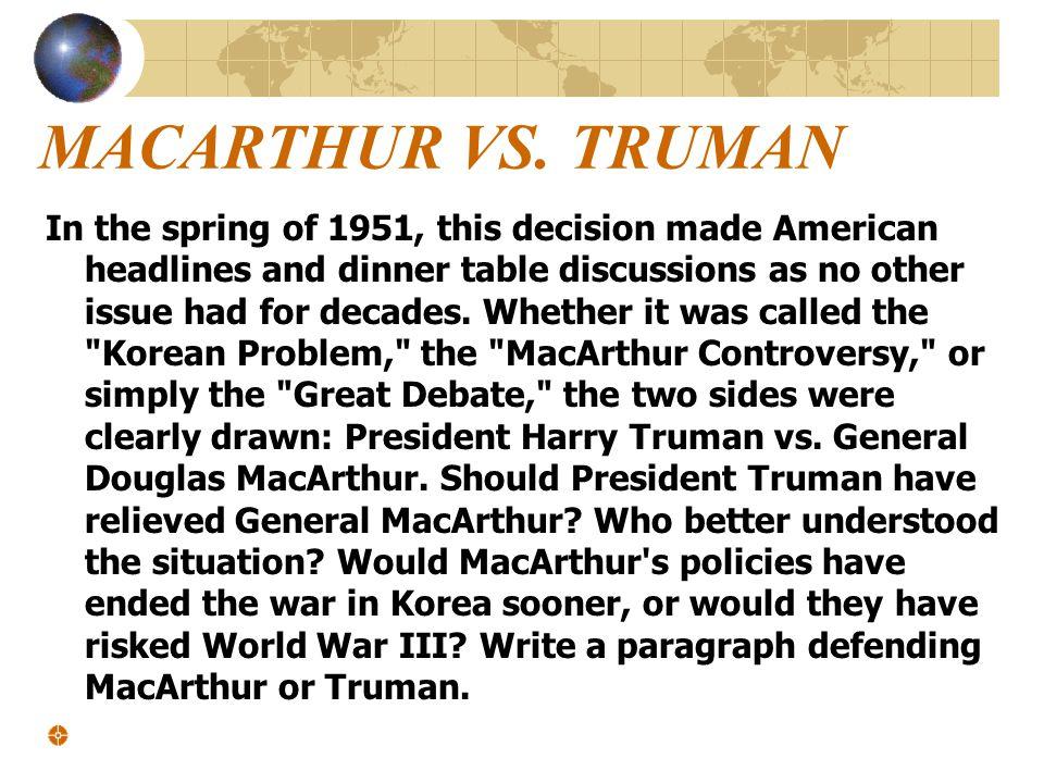 MACARTHUR VS.