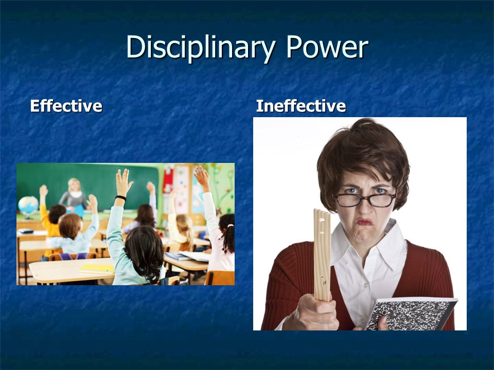 Disciplinary Power EffectiveIneffective