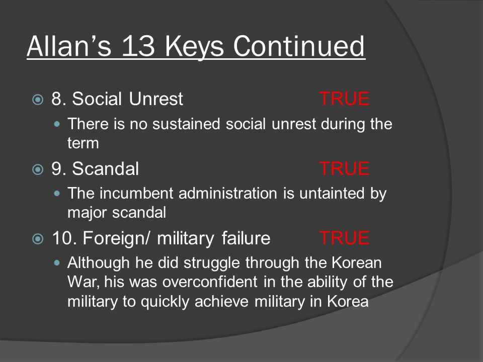 Allan's 13 Keys Continued  8.