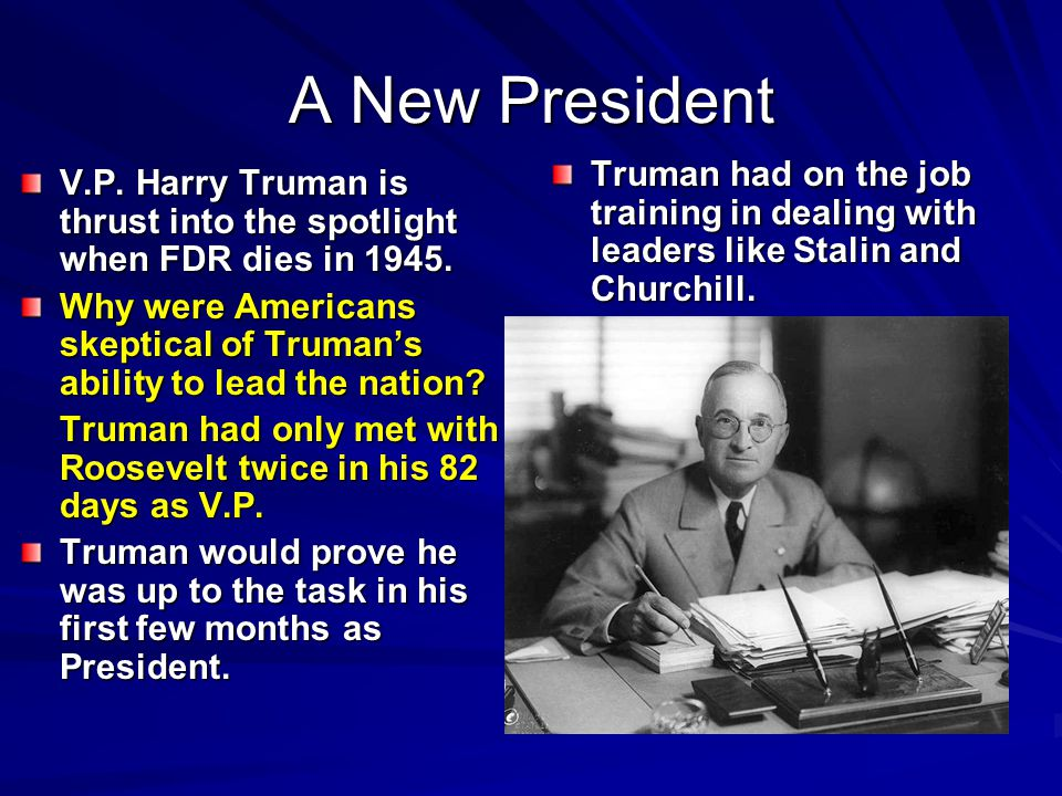 Election of 1948 ►W►W►W►Why did many feel Truman would not win re-election.