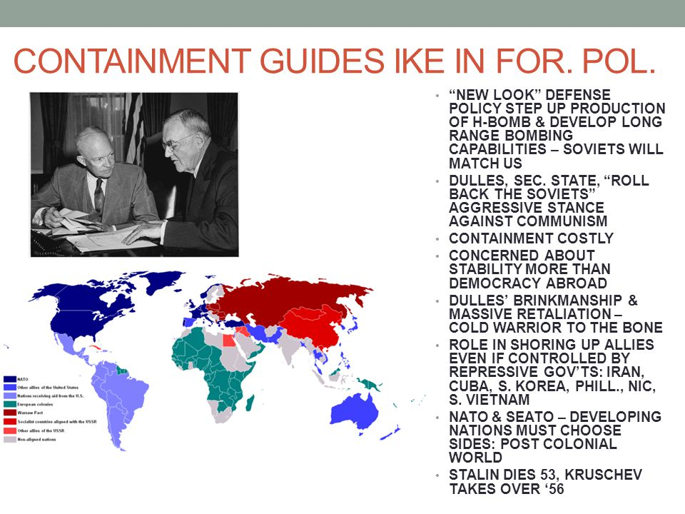 CONTAINMENT GUIDES IKE IN FOR. POL.