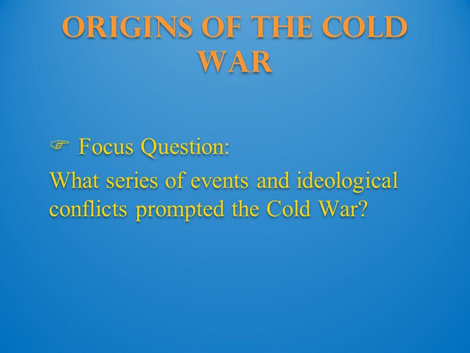 Origins of the Cold War: korea The Korean War