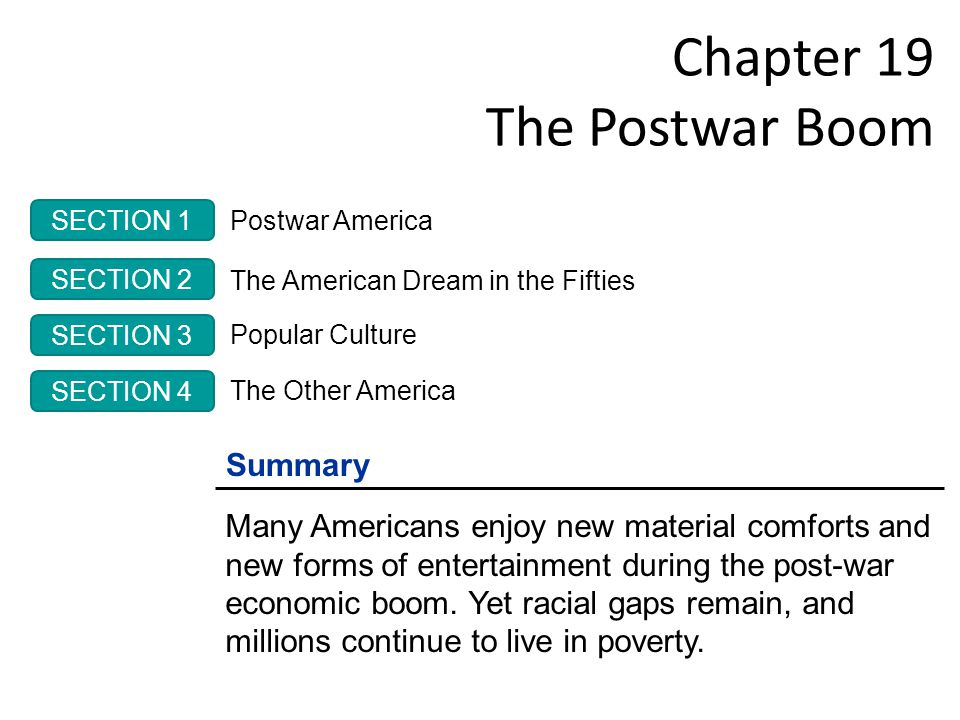 19.2 The American Dream in the 50s 12 The Organization and the Organization Man cont.