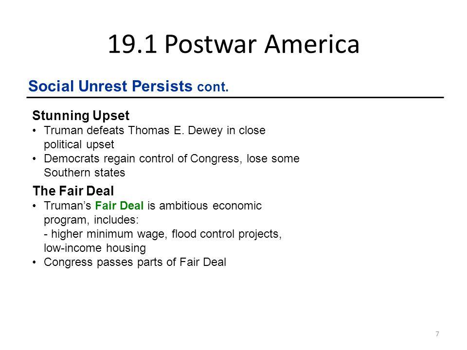19.1 Postwar America 8 Republicans Take the Middle Road I Like Ike.