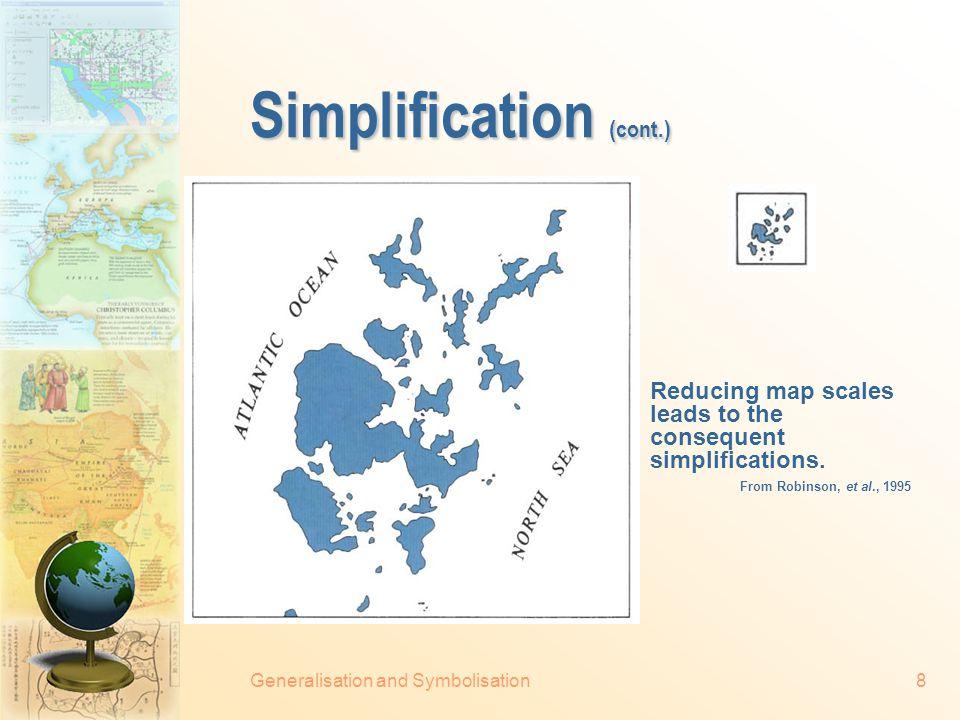 Generalisation and Symbolisation7 Simplification Simplification by point elimination.