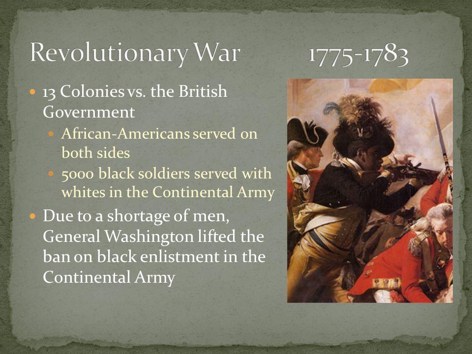 13 Colonies vs.