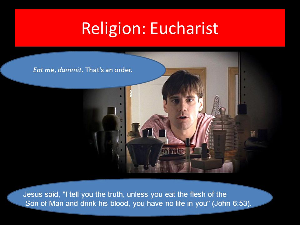 Religion: Eucharist Jesus said,