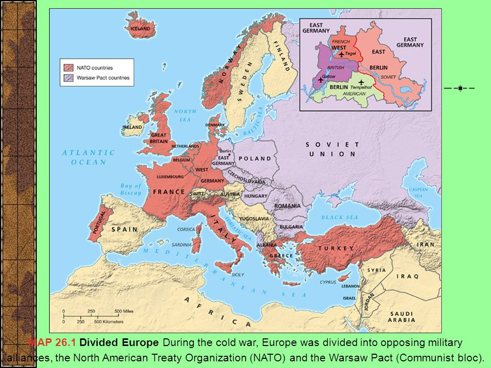 The Division of Europe Map: Divided Europe FDR's realism: spheres of influence were inevitable.