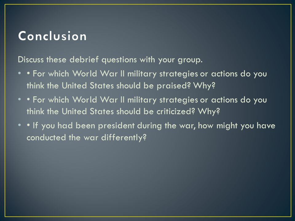 Discuss these debrief questions with your group.