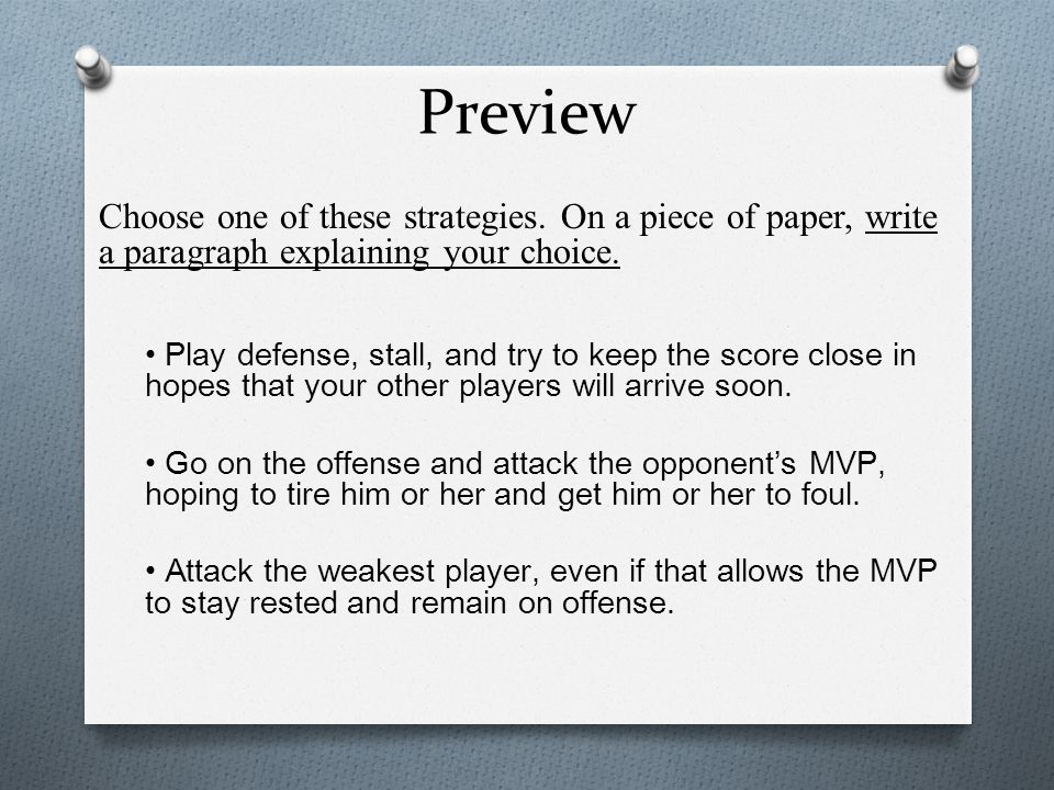 Preview Choose one of these strategies.