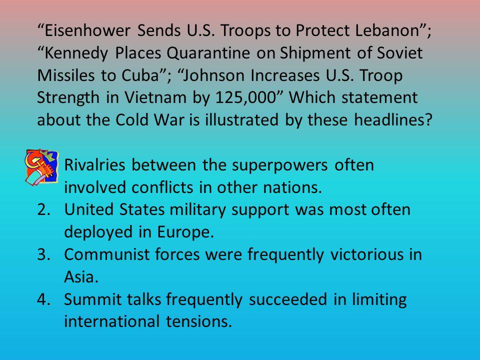 Eisenhower Sends U.S.
