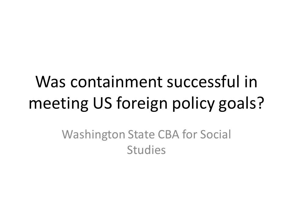 What were Truman's goals?