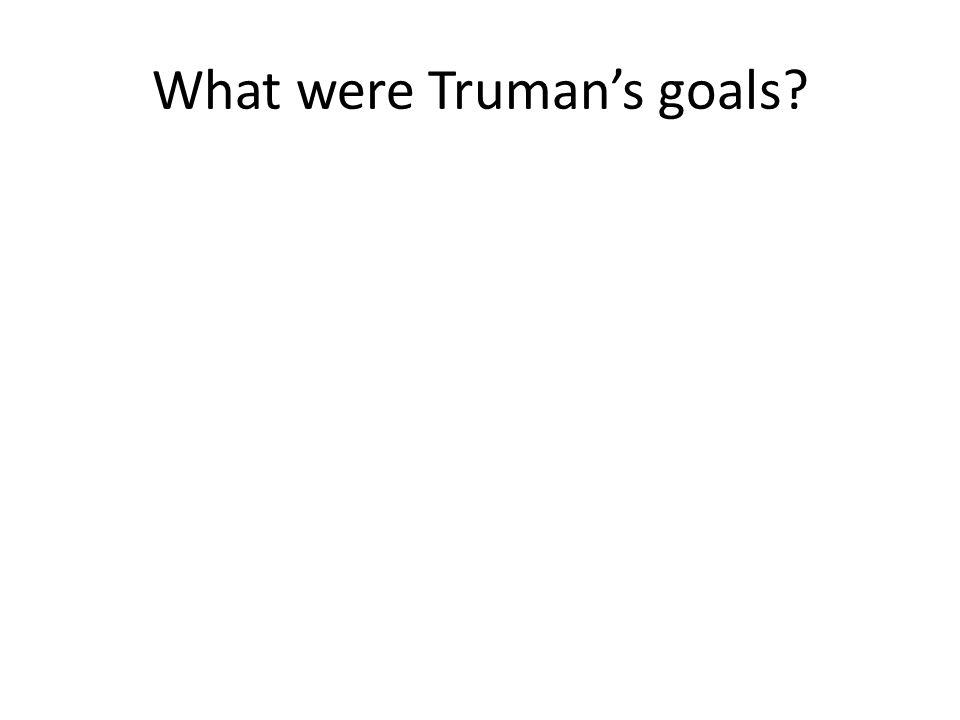 What were Stalin's goals?