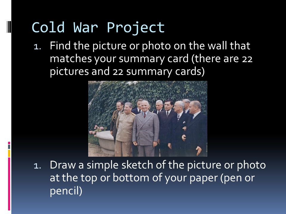 Cold War Project 3.