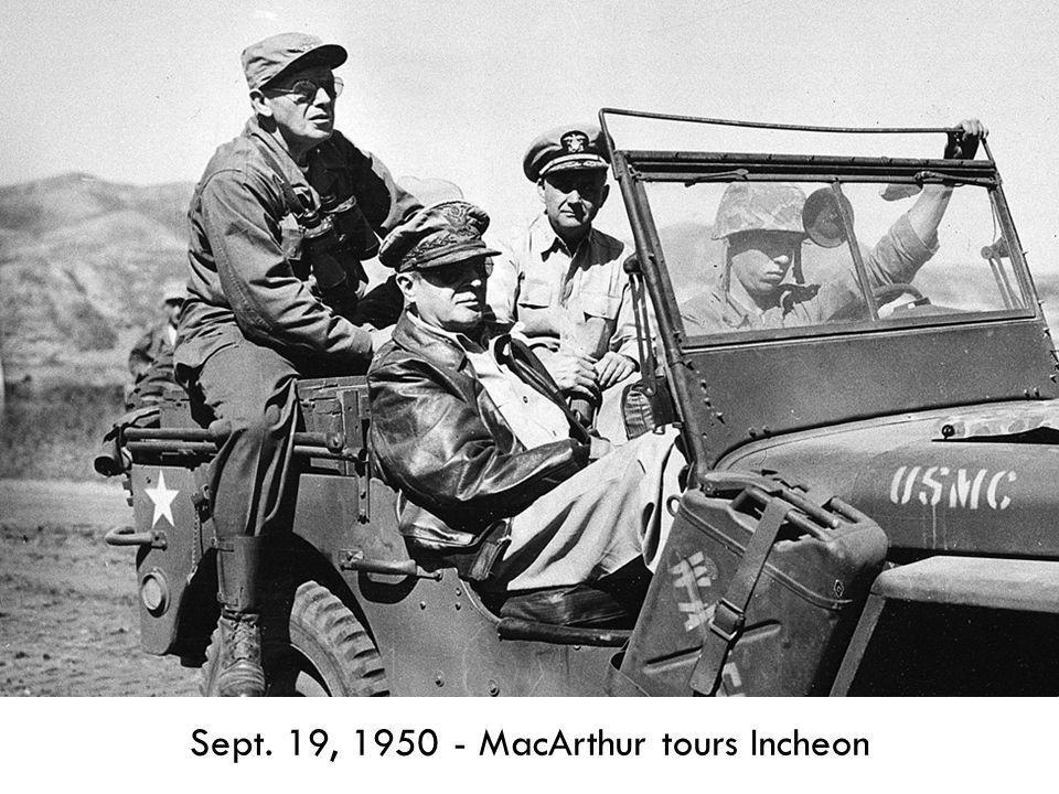 Sept. 19, 1950 - MacArthur tours Incheon
