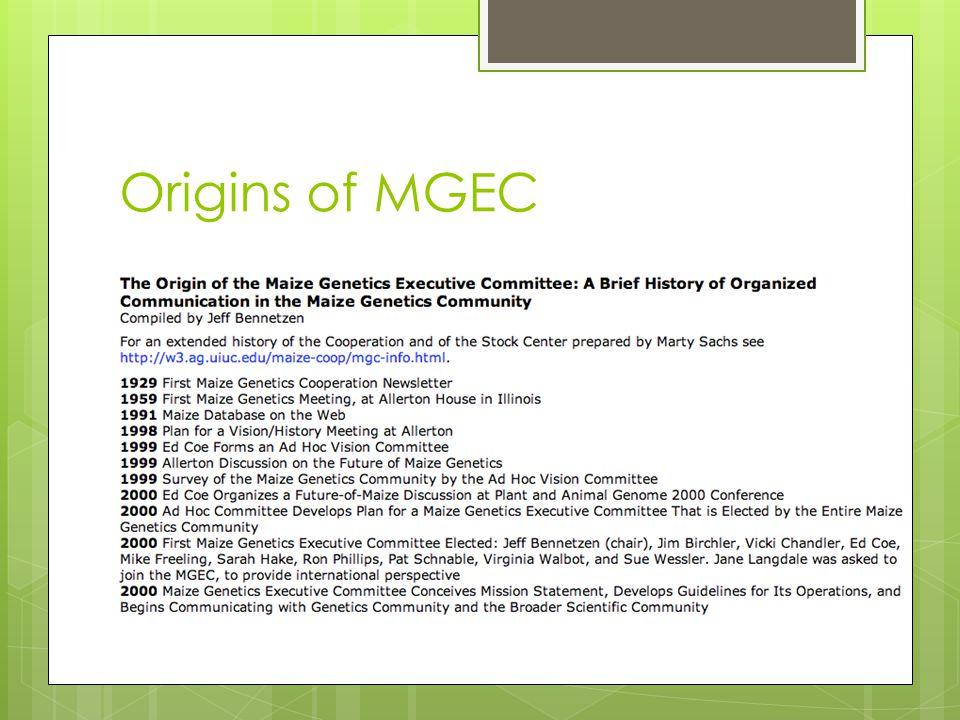 Origins of MGEC