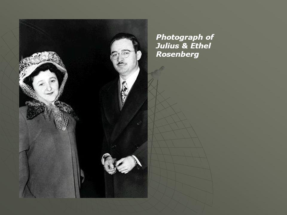 Photograph of Julius & Ethel Rosenberg