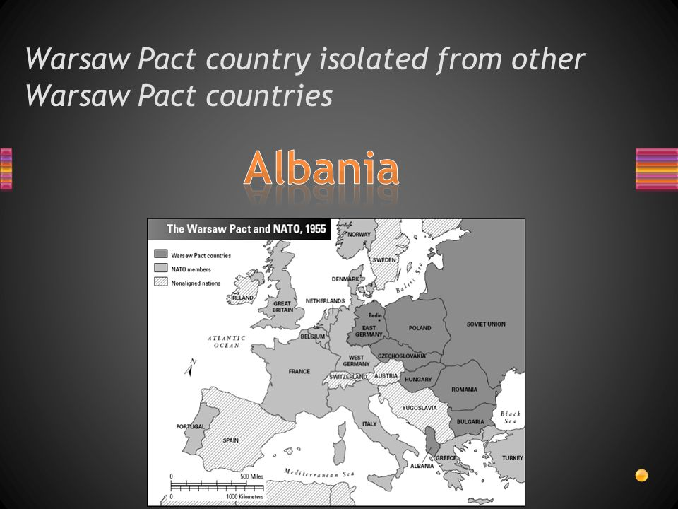 Warsaw Pact country isolated from other Warsaw Pact countries