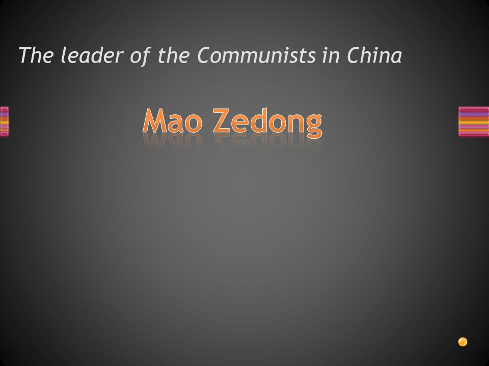 The leader of the Communists in China