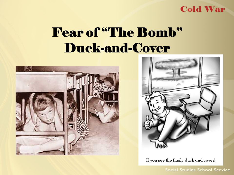 "Fear of ""The Bomb"" Duck-and-Cover"